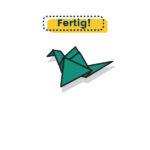 Origami Papiervogel falten fertig