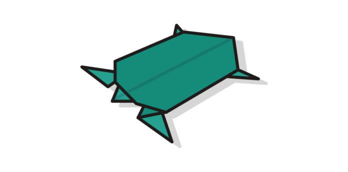 Origami Schildkröte falten - Thumbnail