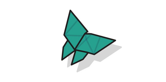 Origami Schmetterling falten - Thumbnail