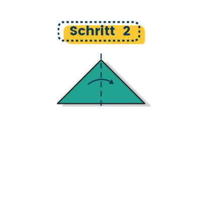 Origami Schwalbe falten 02