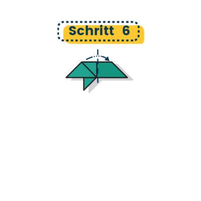 Origami Schwalbe falten 06