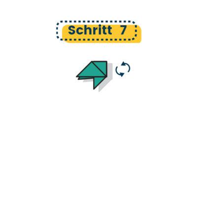 Origami Schwalbe falten 07