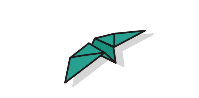 Origami Schwalbe falten - Thumbnail