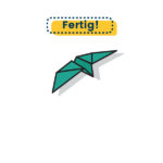 Origami Schwalbe falten fertig