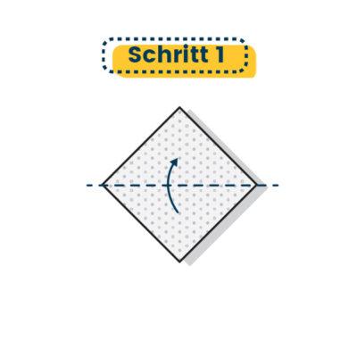 Origami Schwan falten 01
