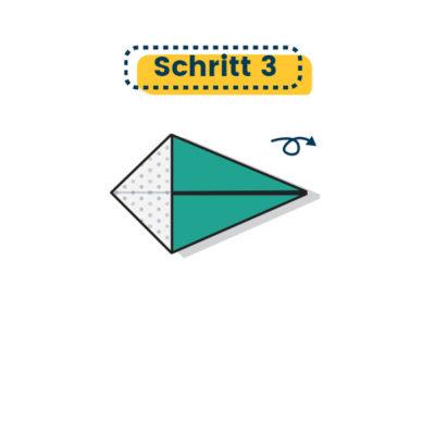 Origami Schwan falten 03