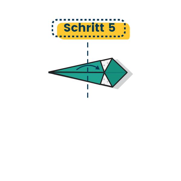 Origami Schwan falten fertig