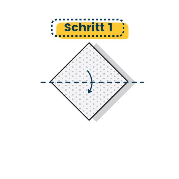 Origami Segelboot falten - Schritt 01