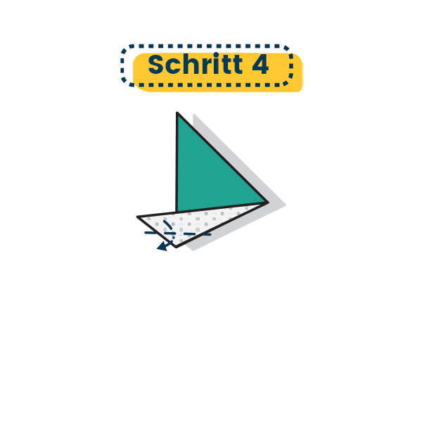 Origami Segelboot falten - Schritt 04