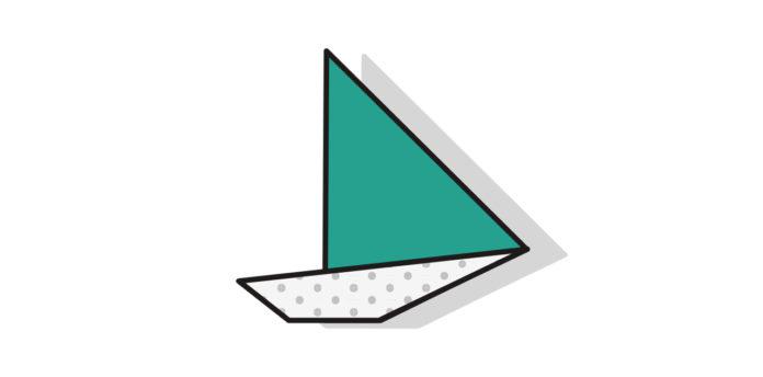 Origami Segelboot falten - Thumbnail