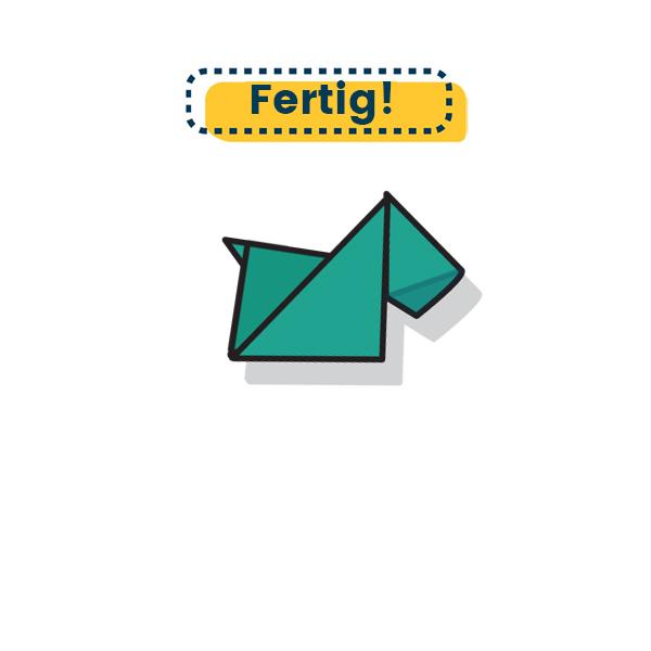 Origami Terrier falten fertig