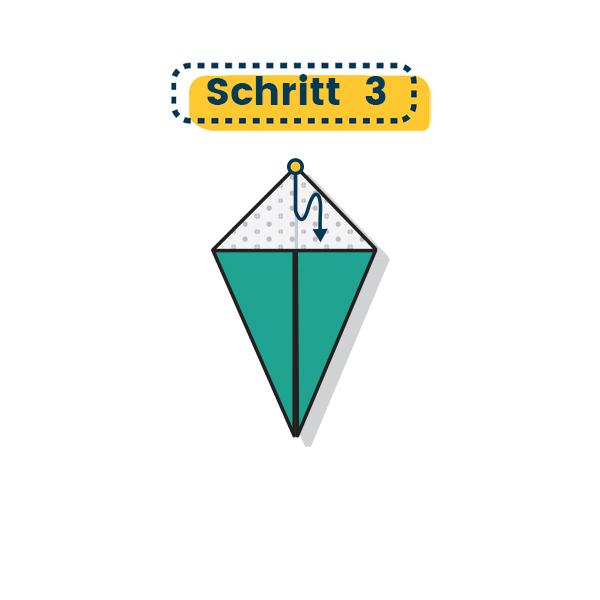 Origami Truthahn falten 003