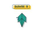 Origami Truthahn falten 009