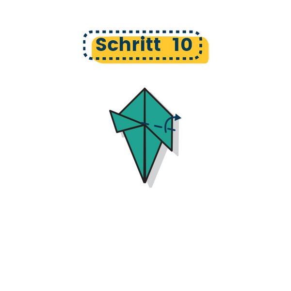 Origami Truthahn falten 010