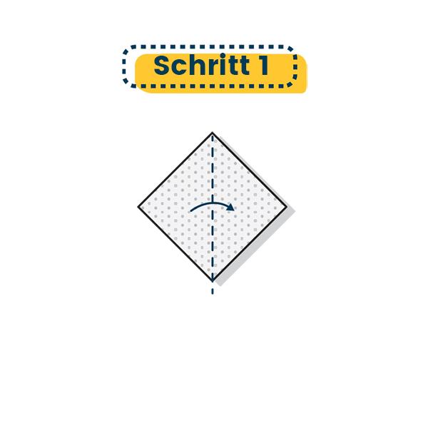 Origami Vogel falten Schritt 1 - www.einfach-basteln.com