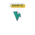 Origami Vogel falten Schritt 10
