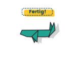 Origami Wal falten fertig