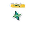 Origami Wurfstern falten fertig