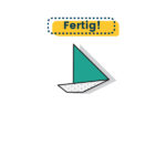 Origami Yacht falten fertig
