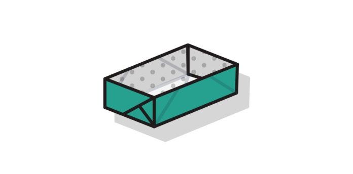 Rechteckige Origami Box falten - Thumbnail
