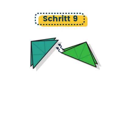 großer Origami Stern falten 09