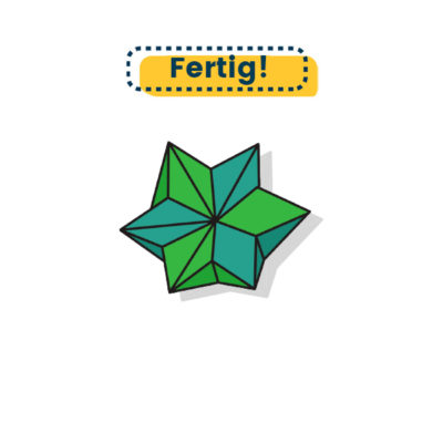 großer Origami Stern falten fertig