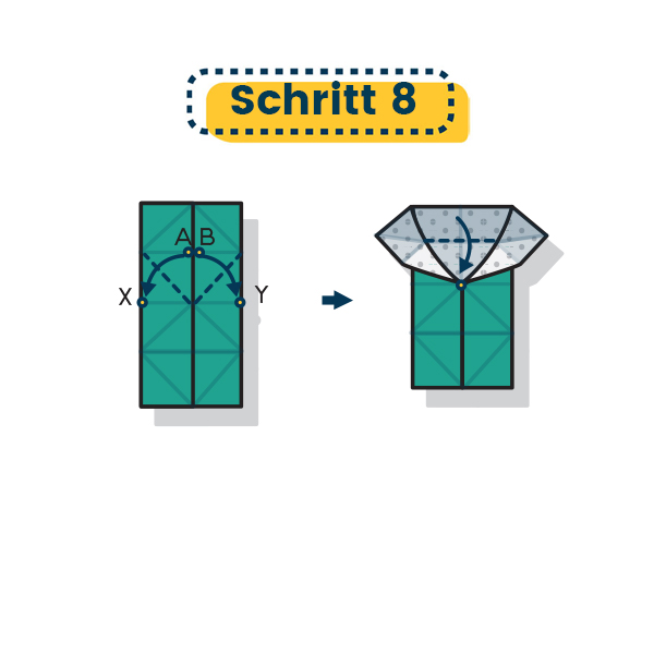 Origami Schmetterling falten 16