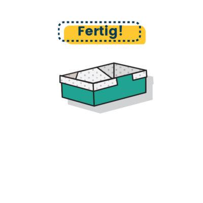 traditionelle Origami Box fertig